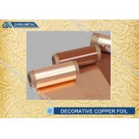 Red C11000  T2 TP2 TU2 Decorative Copper Foil Roll for Electric Spring Manufactures