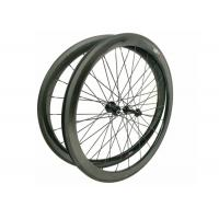 23MM Width 700C Carbon Road Bike Wheels 45MM Clincher Shiny / Matte Finishing Manufactures