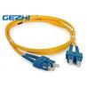 3D Passed Fiber Optic Network Components SC / UPC - SC / UPC Single Mode Fiber Jumpers Manufactures