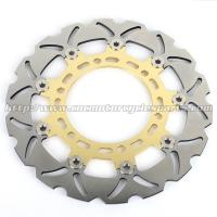 Gladius 650 Motorcycle Floating Brake Disc CNC Milled Aluminum Alloy 6 Holes Manufactures