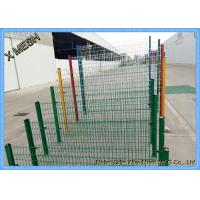 Quality 3D 3V Powder Coating Welded Wire Mesh Fence 2.5 Meter Width Curved for sale
