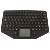 Easy Operation Silicone Rubber Keypad With Stainless Steel Mounting Panel Manufactures