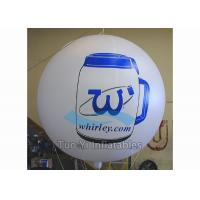 Quality 0.18mm PVC Durable Branded Balloons / Advertising Sphere Ball For Sponsor Event for sale