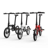 16 inch 250w low price electric bike folding with hidden lithium battery mini portable e bicycle 2 wheel  LED display Manufactures