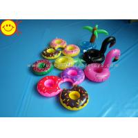 Quality Drink Holders Inflatable Water Floats Animal / Fruit Styles Floating Pool Inflatable for sale