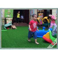 Non Infill Needed Durable Playground Synthetic Grass Mat Synthetic Turf Soft Grass For Kids Manufactures