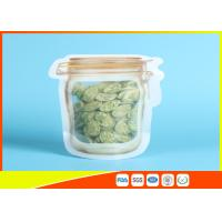 Household Reusable Stand Up Ziplock Bags Food Can Shaped Plastic Packaging Bag / Mason Jar Manufactures