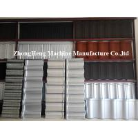 0.4mm Al - Zinc Stone Coated Roof Tile Machine With Auto Face Glue Spraying System Manufactures