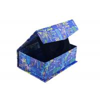 Navy Blue Square Magnetic Closure Box Foldable Paper Boxes With Bowtie Manufactures