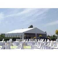 Custom Luxury Wedding Tents Waterproof / Flame Retardant With Glass Doors Manufactures