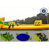 Water Proof 30m Water Park Equipment With Fabric Reinforced 0.9mm PVC Tarpaulin Manufactures