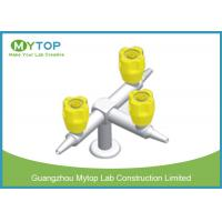Three Way Brass Lab Gas Taps Laboratory Fittings For Chemical Lab Bench Manufactures
