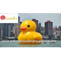 Airtight PVC Inflatable Yellow Dark Rubber Duck Floating On Sea For Water Games