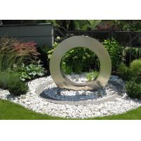 Garden Design Ring Shape Stainless Steel Water Feature Fountain Corrosion Stability Manufactures