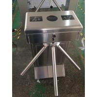 #400 brushed treatment SUS304 Waist High Semi Automatic electronic tripod turnstile gate Manufactures