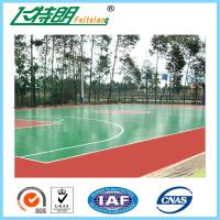 ISO Acrylic Sports Surfaces Recycled Flooring Materials Environmental Friendly Manufactures