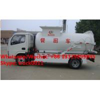 Quality factory sale best price dongfeng 120HP 4tons side lifting bins food garbage for sale