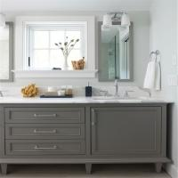 Customized Bathroom Prima Vanity Furniture Modern Design With Double Sink Manufactures