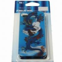 3-D Cover for iPhone 4, Made of Plastic, Undersea World Design, Safe and Non-toxic Manufactures