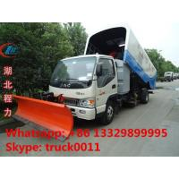 high quality and best price JAC brand Vacuum sweeper truck with snow removal for sale, factory sale JAC Small diesel swe Manufactures