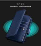 Magnetic Clip Leather Iphone 6 Plus Wallet Case Detachable Dark - Blue