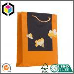Matte Orange Color Printed Paper Bag; Twisted PP Handle Paper Shopping Bag Manufactures