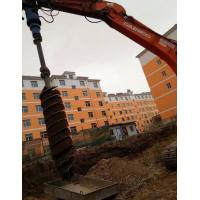 Hydraulic Earth Auger Attachment For Skid Steer / Excavator Rotary Pile Foundation Manufactures