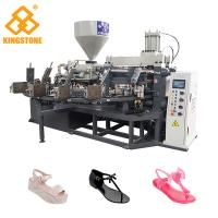 Energy Saving Rotary Type Ladies PVC Shoes Making Machine For Sandals Slipper Jelly Shoes short boots Manufactures