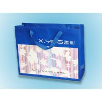 Quality 200gsm Ribbon Handle Colorful Personalized Paper Bag For Shopping / Gift / for sale
