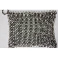 Buy cheap 6*8 Inch Stainless Steel Cast Iron Skillet Cleaner Chainmail Scrubber For Cast from wholesalers