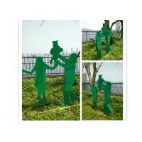 Outdoor Decorative Painted Metal Sculpture Stainless Steel Family Sculpture Manufactures