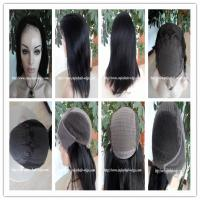 Buy cheap Human hair lace front wig 13''x4''silk 4''x4'' indian remy yaki hair,120%-180% from wholesalers