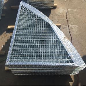 Outdoor Anti Slip Galvanized Bar Grating, 30 * 3mm Metal Grid Flooring Manufactures