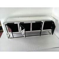 Quality Four Doors Mirrored Tv Stand , Stainless Steel Mirrored Glass Tv Stand for sale