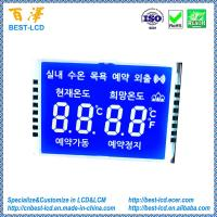 China Custom Segment STN Blue Negative Transmissive LCD Display With White Backlight For Household Electrical Appliances on sale