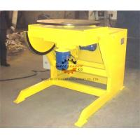 Yellow Pipe Welding Rotators Positioners , Welding Rotary Table With Multiple Indexer Manufactures