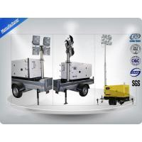 Low Noise Trailer Mounted Mobile Light Tower Generator 10Kw/12Kva F Insulation Class Manufactures