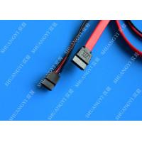 Quality Latching Round SATA to Right Angle SATA Serial ATA Cable, Black for sale