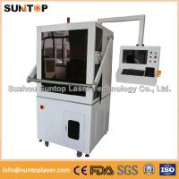 50W Europe standard fiber laser marking machine with Full enclosed structure Manufactures