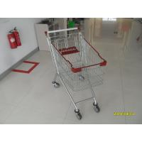 Durable Supermarket Shopping Carts , Wire Grocery Cart Zinc Plated Clear Powder Coating Manufactures