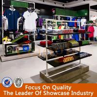 wood led light china clothes shop display stand design for shop Manufactures