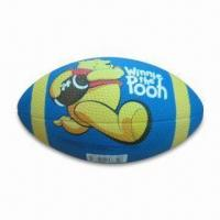 Rubber American Football in Cartoon Printing, CE-marked, OEM Services are Provided Manufactures