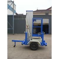 6 Meters Platform Height 130kg Loading Capacity Towing Single Mast Aerial Work Plaform For Long Distance Transportation Manufactures