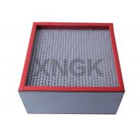 Buy cheap Galvanized Steel Frame High Temperature Hepa Filters Medium Efficiency from wholesalers