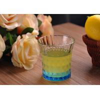 Colored Embossed Whiskey Glass Cups , Recycled Glasses Tumblers for Water Manufactures