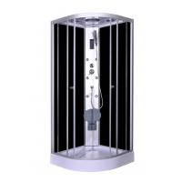Buy cheap Steam Massage with Electronic computer panel Circle Quadrant Shower Cabin with white acrylic tray and roof from wholesalers
