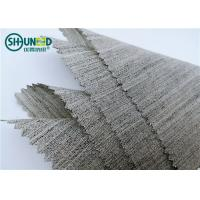 China Soft Woven Wool Light Hair Bow Interlining Canvas Fabric For Garment Overcoat on sale