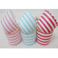 China colorful Strips Krape papre Muffin cup,Muffin case/Muffin cupcake wrappers on sale