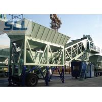 Wet Mix Mobile Concrete Batching Plant Computer Control 35m3/H Capacity Manufactures