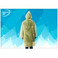 Yellow  PE Plastic Raincoat Disposable  With Food Grade For Children And Adult Manufactures